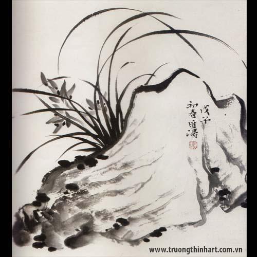 Tranh hoa Lan - Mã: THL023
