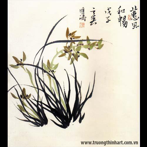 Tranh hoa Lan - Mã: THL024