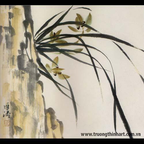 Tranh hoa Lan - Mã: THL025