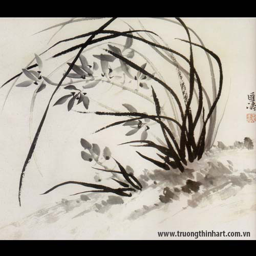 Tranh hoa Lan - Mã: THL026