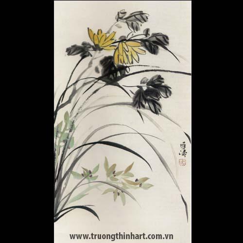 Tranh hoa Lan - Mã: THL027