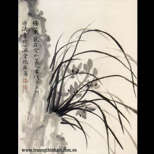 Tranh hoa Lan - Mã: THL028