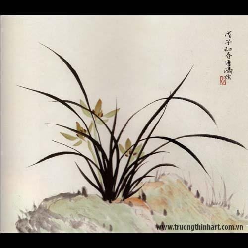 Tranh hoa Lan - Mã: THL029