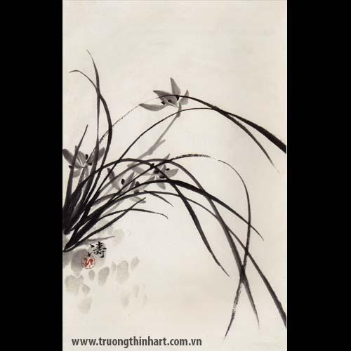 Tranh hoa Lan - Mã: THL030