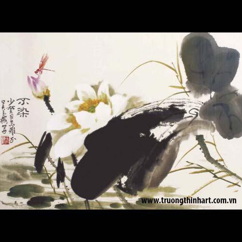 Tranh hoa Sen - Mã: TMTHS001