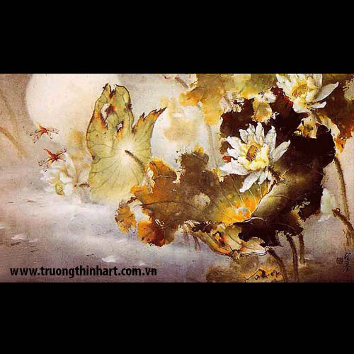 Tranh hoa Sen - Mã: TMTHS002