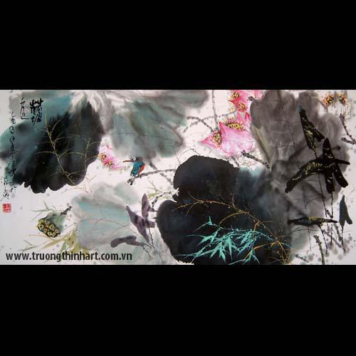 Tranh hoa Sen - Mã: TMTHS004