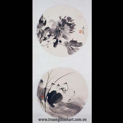 Tranh hoa Sen - Mã: TMTHS005