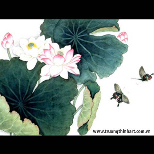 Tranh hoa Sen - Mã: TMTHS007