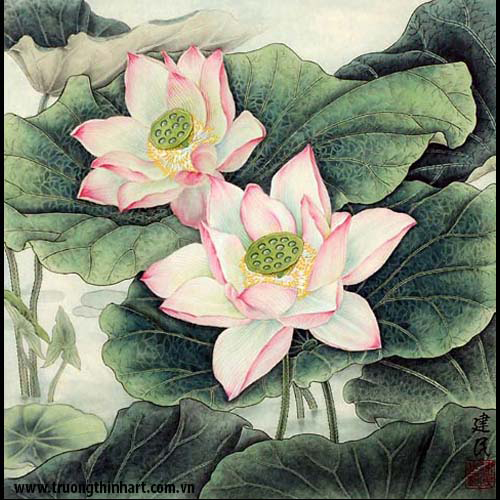 Tranh hoa Sen - Mã: TMTHS008