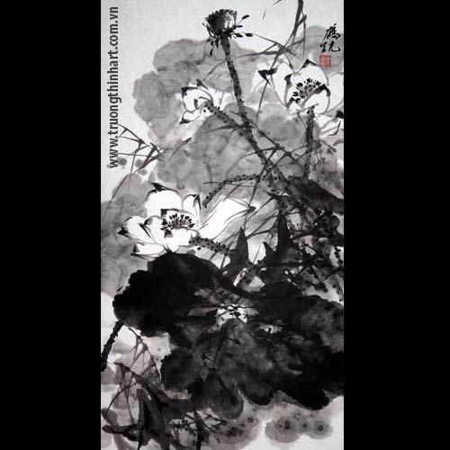 Tranh hoa Sen - Mã: TMTHS009