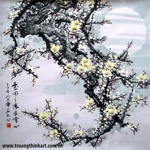 Tranh hoa đào, mai - Mã: THDM001