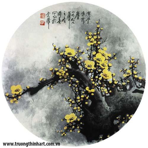 Tranh hoa đào, mai - Mã: THDM003