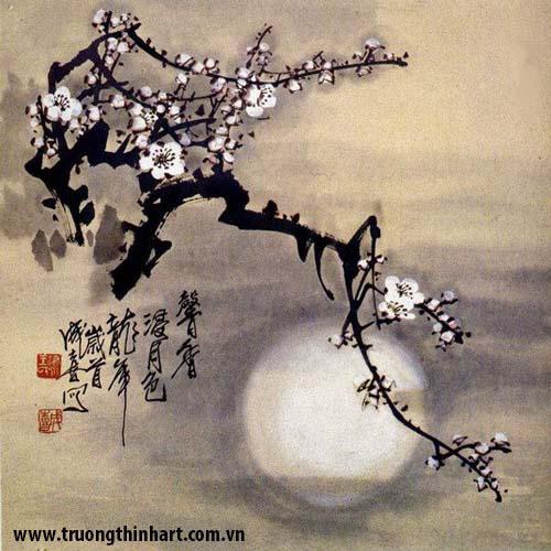 Tranh hoa đào, mai - Mã: THDM005