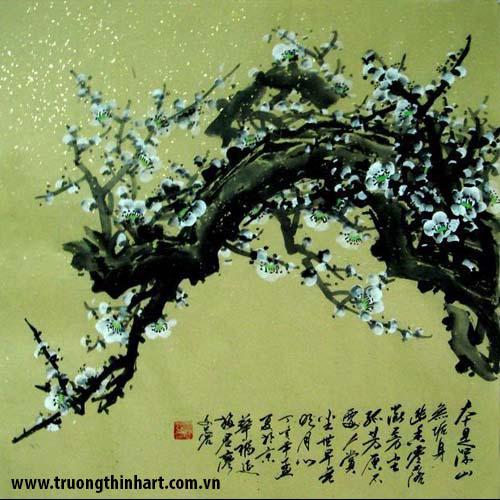 Tranh hoa đào, mai - Mã: THDM007