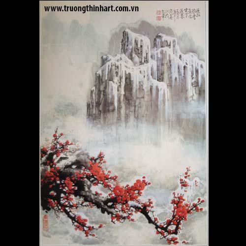Tranh hoa đào, mai - Mã: THDM011