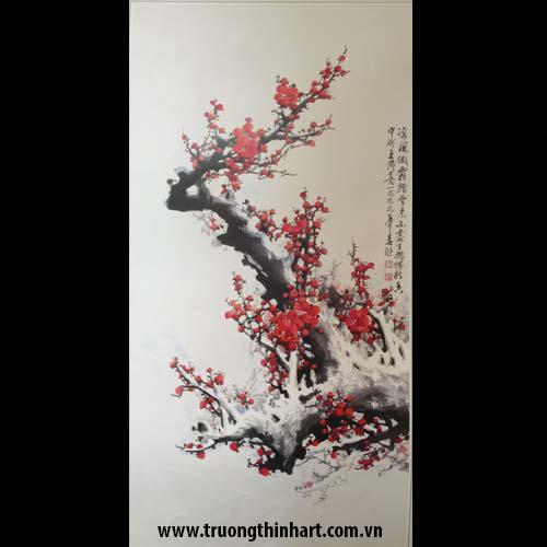 Tranh hoa đào, mai - Mã: THDM012