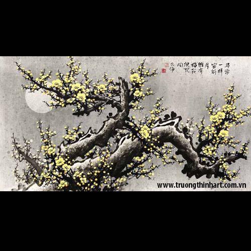 Tranh hoa đào, mai - Mã: THDM020