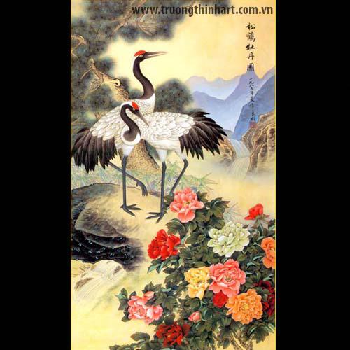 Tranh Tùng Hạc - Mã: TTHAC001