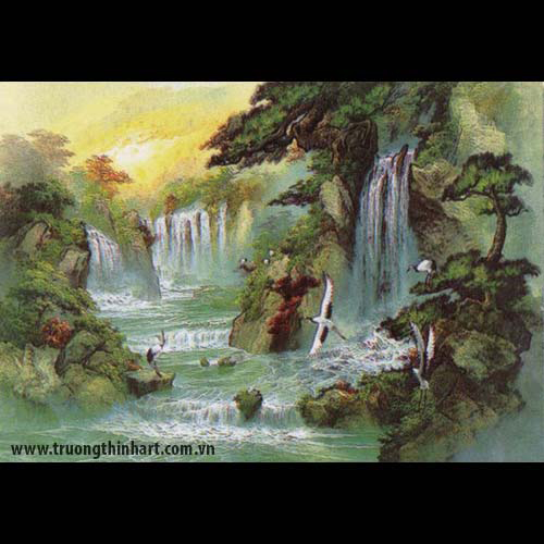 Tranh Tùng Hạc - Mã: TTHAC002