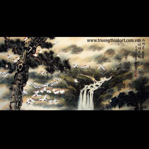 Tranh Tùng Hạc - Mã: TTHAC005