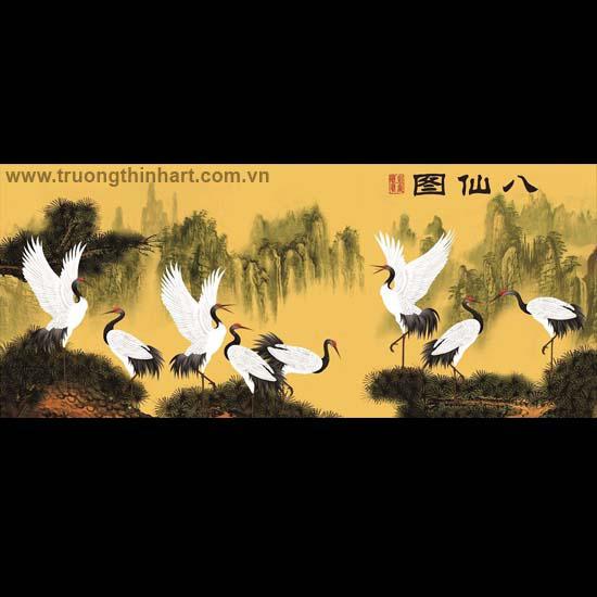 Tranh Tùng Hạc - Mã: TTHAC006
