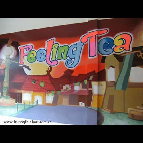 Tranh tường phòng trà - Mã: TTPT001