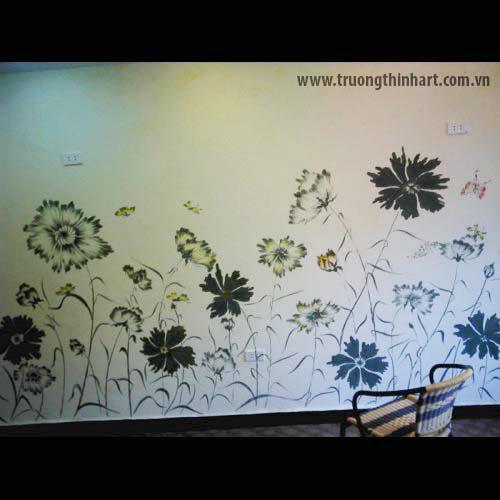 Tranh tường phòng trà - Mã: TTPT002