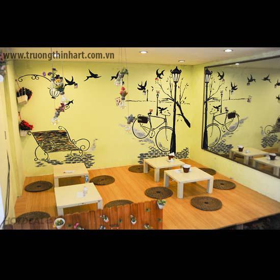 Tranh tường phòng trà - Mã: TTPT005