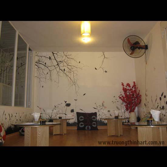 Tranh tường phòng trà - Mã: TTPT007
