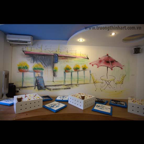 Tranh tường phòng trà - Mã: TTPT008