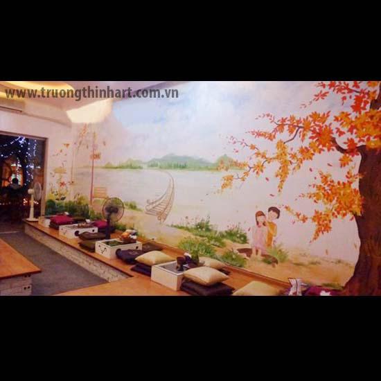 Tranh tường phòng trà - Mã: TTPT010