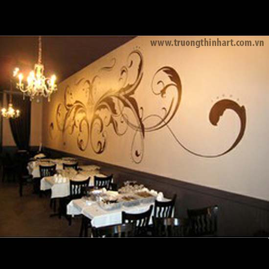 Tranh tường phòng trà - Mã: TTPT011