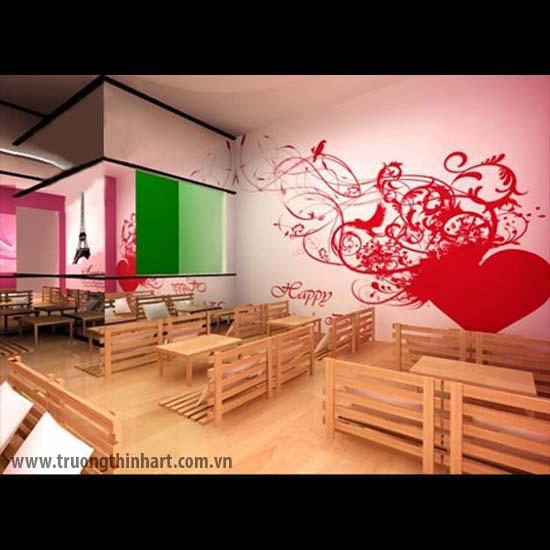 Tranh tường phòng trà - Mã: TTPT014