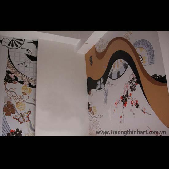 Tranh tường phòng trà - Mã: TTPT016