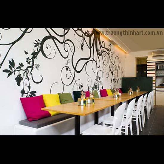 Tranh tường phòng trà - Mã: TTPT017