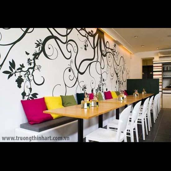 Tranh tường phòng trà - Mã: TTPT020