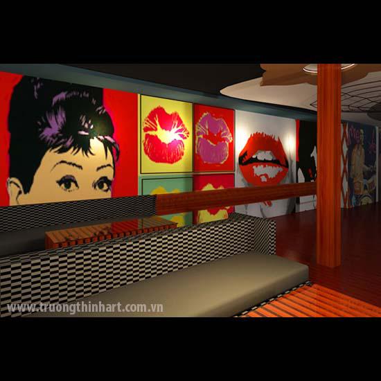 Tranh quán Bar-Karaoke - Mã: TQBAR009