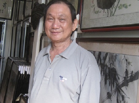 Kỷ lục gia châu Á về tranh thủy mặc đầu tiên tại Việt Nam